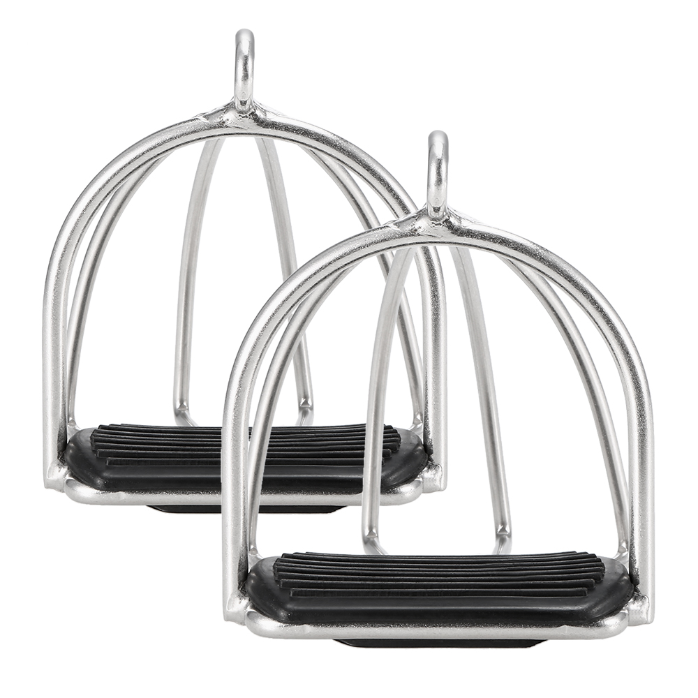 Horse Care Products 2 PCS Anti-skid Cage Horse Riding Stirrups Flex Steel Horse Saddle Pedal Equestrian Safety Equipment