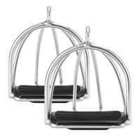 Horse Care Products 2 PCS Anti skid Cage Horse Riding Stirrups Flex Steel Horse Saddle Pedal Equestrian Safety Equipment