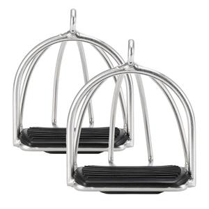 Image 1 - Produits de soins cheval, Cage antidérapante 2 pièces, étriers déquitation en acier flexible, équipement de sécurité pour pédale cheval