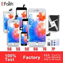 EFaith AAA Display LCD per IPhone 5 5s 5C SE per IPhone 6 6P 6SPlus IPhone 7 8No Dead Pixel Touch Screen con regali gratuiti