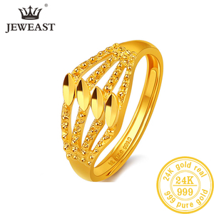 Image 1 - Jlzb 24 18k 純金リングリアル au 999 純金指輪エレガントなシャイニービュ高級流行の古典的なジュエリーホット販売新 2020