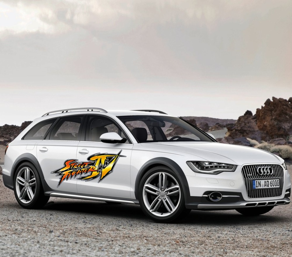 1 pcs vinyl creative street fighter car doors stickers decal accessories for audi a3 a5 bmw