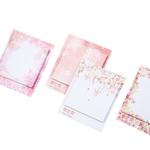 25packs/lot Romantic Cherry Blossoms Note Deacorative Bookmark Message Reminder Label Stationery Notepad