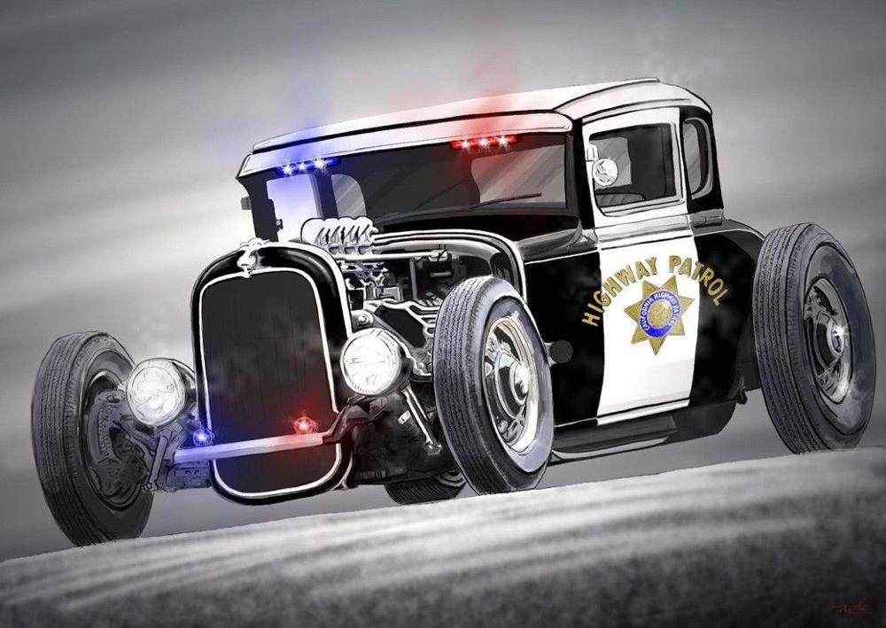 Hot Rod Vintage Cars Poster canvas art For Living Room Modern Wall ...