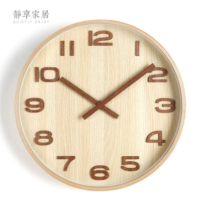Household creative wooden clock watch