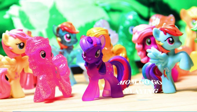 10 20PCS Lot Different Little Horse Loose Toys For Children Gift Very Cute Cartoon Action Figures