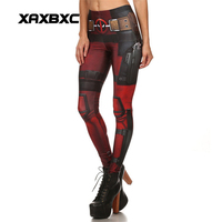 New Arrival 1577 Sexy Girl Super Soldier Cool Deadpool Cosplay 3D Prints Elastic Fitness Workout Polyester