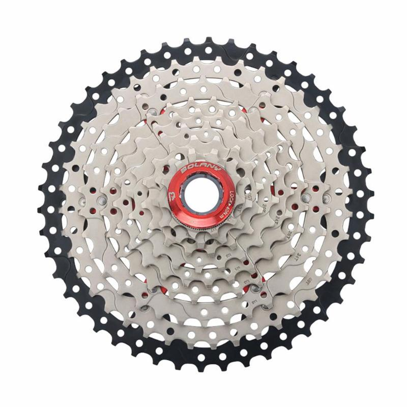 все цены на 9 Speed Wide Ratio 11-46T Mountain Bike Cassette Flywheel MTB Bicycle Cassette Flywheel Sprocket Compatible Bicycle Parts онлайн