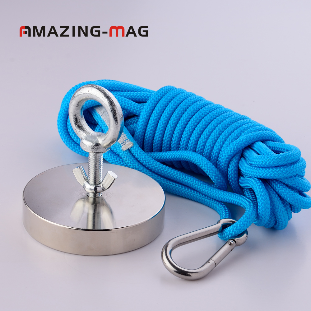 1PC 500KG Vertical Pull-force Neodymium Fishing Salvage Recovery Detecting Magnet With Rope D97*20mm Metal Treasure Hunter Set маска карнавальная волк 15 см в пакете
