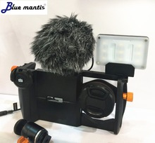 Outdoor professional windproof windshield for Rode video micro Artifical fur windproof windscreen for Rode video microBluemantis