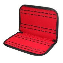 цена на NEW-20 Slots/Grids Leather Watch Case With Zipper Velvet Wristwatch Display Storage Box Tray Travel Jewelry Packing Shelf Orga
