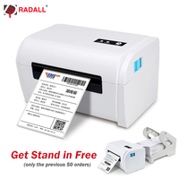 RD 9200 110mm Portable Thermal Printer Direct Linear printing A6 Thermal Label printer Barcode Maker with USB Auto Peeling