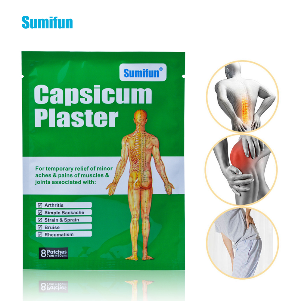 24pcs Capsicum Plaster Arthritis Joint Rheumatism Chinese Pain Patch Muscular Aches Body Back Neck Pain Relief Sticker D0667(China)