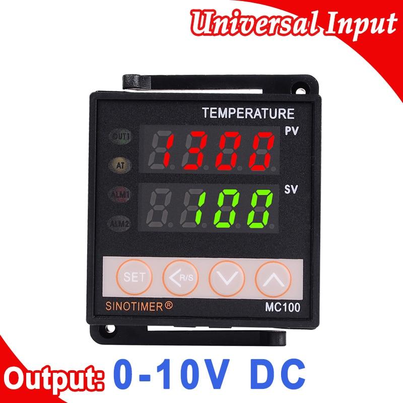 цена на 220V AC PID Digital Thermostat Temperature Controller K/J/PT100 Input, Voltage DC 0-10V Output