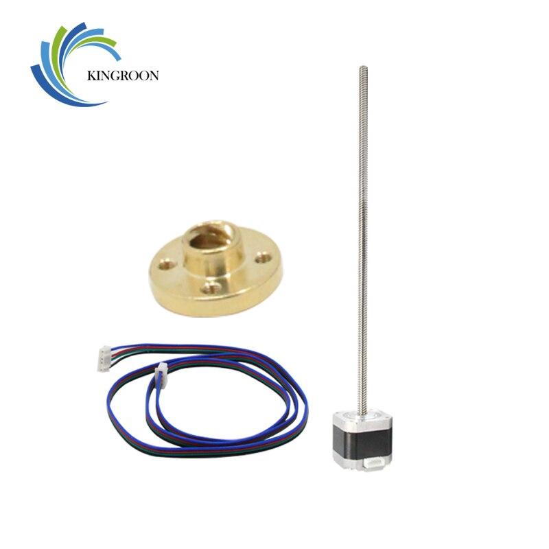 Nema 17 Stepper Motor 1.5A mit 4pin Kabel T8 Blei Schraube 300mm Trapez Muttern Teil Für CNC Z Achse linear 3D Drucker Teile Set