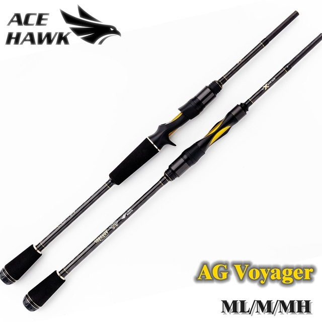 AG Voyager Spinning Baitcasting Fishing Rod 4 Sections.