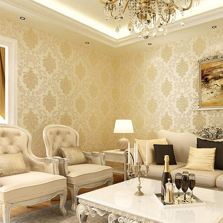 Classic European Style Wall Papers Home Decor Embossed Damask Wallpaper Bedroom Living Room Sofa Tv Background Papel De Parede