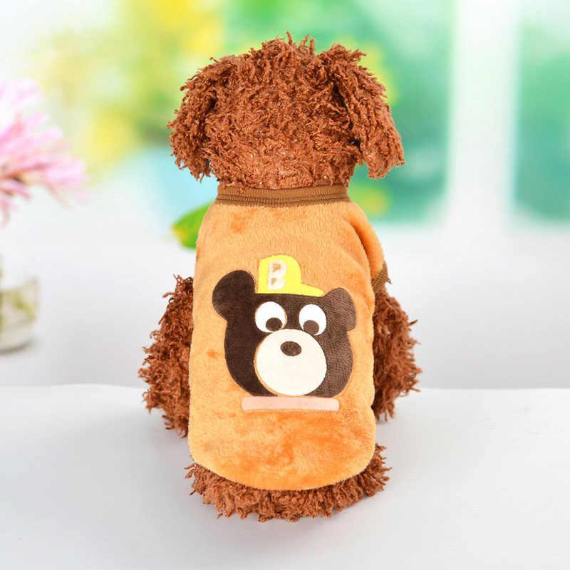 Мультфильм для питомца щенка кота жилет теплый плюш Одежда для собак пальто для маленькие собачки Чихуахуа Йоркшир Прямая доставка