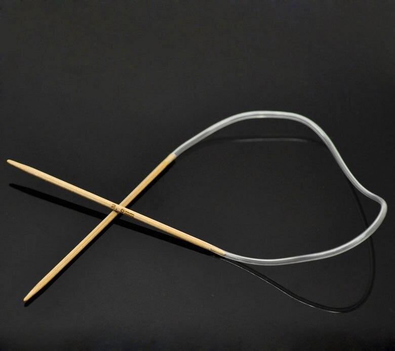 1Pair Bamboo 40cm Circular Knitting Needle(2.5mm) New