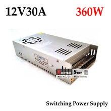 Импульсный источник питания бесплатная доставка 12VDC 30A 360 Вт драйвер для промышленного оборудования AC 100 ~ 240 В вход на DC 12 В