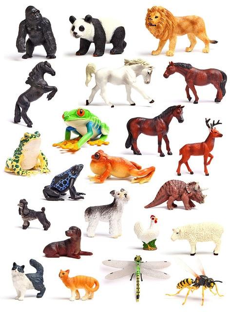 Original American genuine wild life jungle farm animal models kids