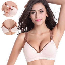 34-40 BC Breast feeding cotton Maternity Nursing Bras sleep bra for feeding pregnant women soutien gorge allaitement underwear