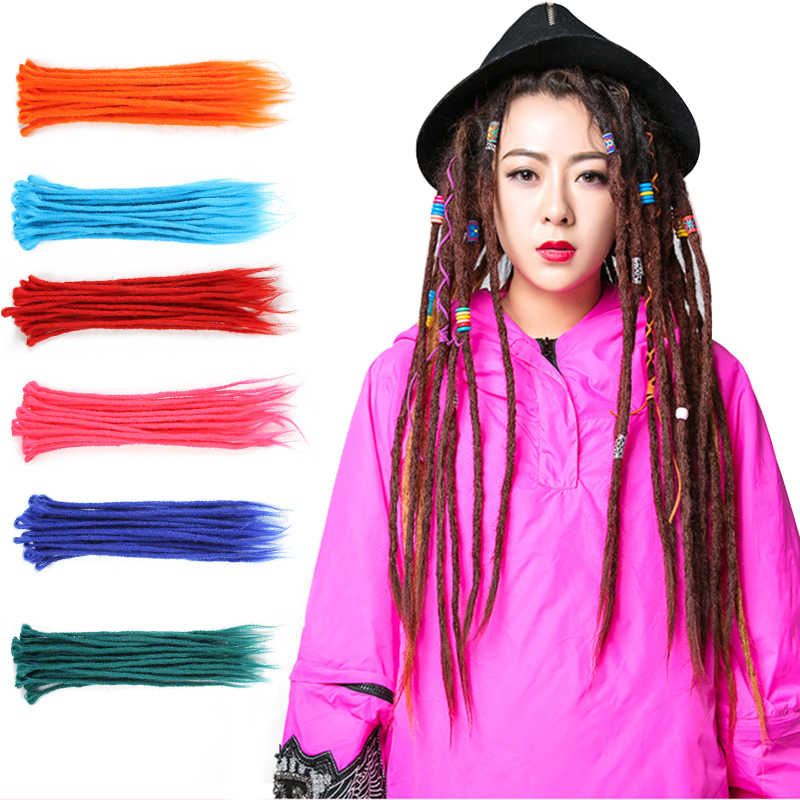 1pc Colorful Dreadlocks Crochet Braids Kanekalon Jumbo Hairstyle High Temperature Filament Synthetic Braiding Hair Extensions