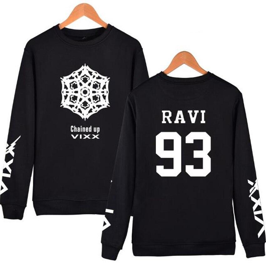 KPOP VIXX Crew Neck Hoodies For Women Men Pullover Sweatshirt Member Name Album Letter Print Couple Tracksuit K-POP Clothes 4XL