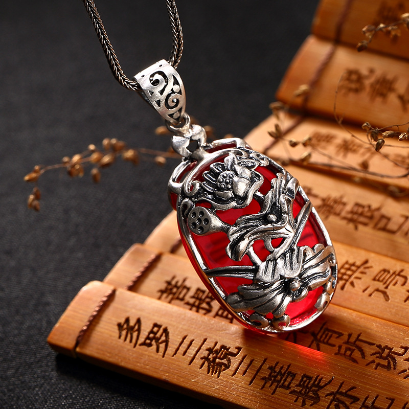 2018 Offer Rushed Carnelian One Deer, Silver, S990, Pure Antique, Hollowed Out, Lotus Flower And Plum Blossom.