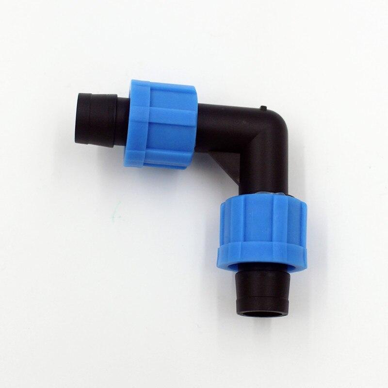 50 шт./упак. капельного Клейкие ленты 5/8 Лок локоть-сделать 90 градусов превращается в 5/8 капельного Клейкие ленты (16 мм) капельного Клейкие ле...