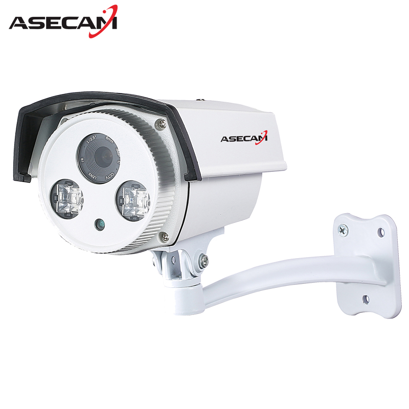 New 1080P IP Camera H.265 Epistar Array Infrared Night 48V POE Bullet Waterproof WebCam Security Network Onvif Surveillance P2P hd 1080p ip camera 48v poe security cctv infrared night vision metal outdoor bullet onvif network cam security surveillance p2p