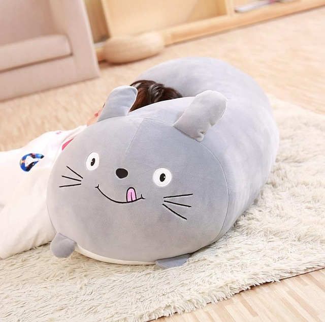 Image 5 - 30/60cm Soft Animal Cartoon Pillow Cushion Cute Fat Dog Cat Totoro Penguin Pig Frog Plush Toy Stuffed Lovely kids Birthyday Gift-in Stuffed & Plush Animals from Toys & Hobbies