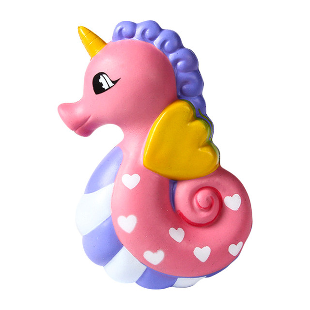 Squeeze soft Squishy Cute Sea Horse Scented Cream Slow Rising Squeeze Decompression Toys Funny Gift Z0225