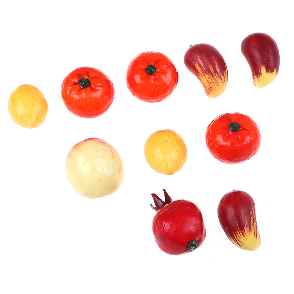 10pcs/lot Kids Vegetables Toy Fruit Toy Kid's Kitchen Miniature Food Game For Girls Boys Kitchen Toys Pretand Play