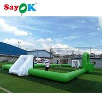 Зеленый ПВХ надувной дартс поле Надувное Мыльное футбольное поле игры Футбол шаг игры на открытом воздухе