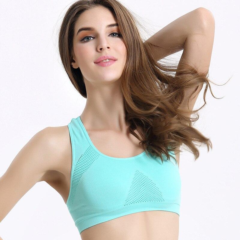 5 Color/ 3 size Professional Absorb Sweat Top Aerobics Padded Bra Crop Top Women Vest Tanks Ladies Bra DropShipping