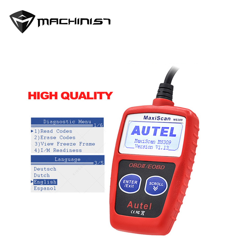 Autel MaxiScan MS309 CAN BUS OBD2 Code Reader EOBD OBD II Auto Diagnostic Tool Autel MS309 KW806 Code Scanner Car Detector