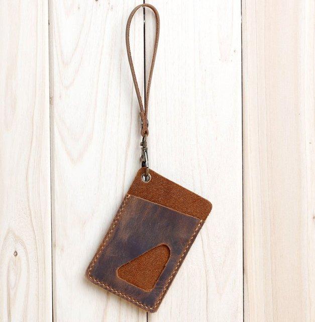 Passion handmade genuine Leather Compact Key Holder Organizer key protector ID card bag