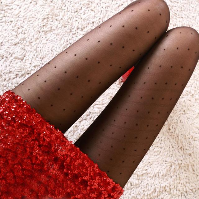 Grande del envío libre C producto Recomendado sexy slash dot jacquard pantyhose de seda delgada sentido promotor/medias de primavera y verano