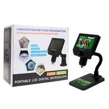 G600 600X Electronic USB Microscope Digital Soldering Microscope Camera 4.3 inch LCD Endoscope Magnifying Camera + 8 LED Light
