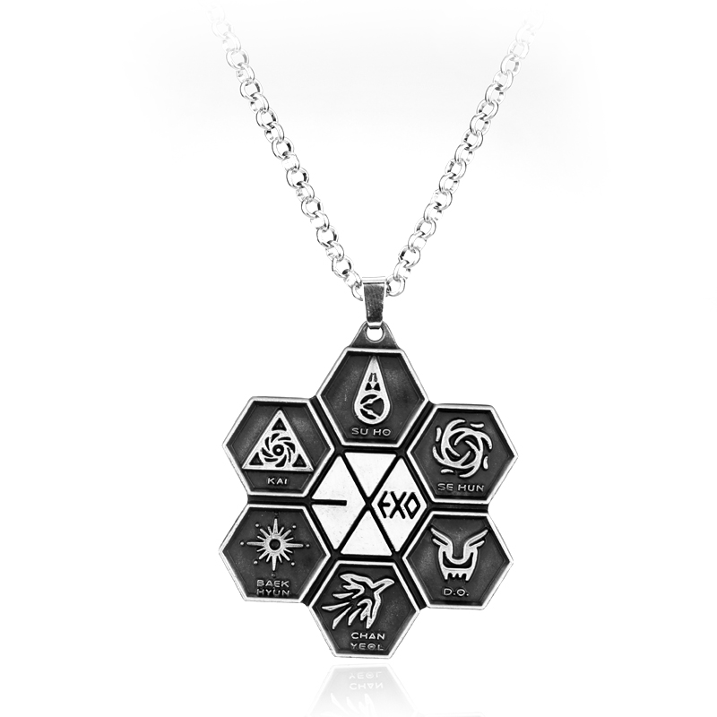 Popular KPOP Star Jewelry EXO Logo Pendant Necklace Fan