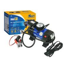 Компрессор автомобильный KRAFT КТ 800028 Power Life PRO (Производительность 45 л/мин, максимальное давление 10 бар, напряжение 12В, светодиодный фонарь, высокоточный манометр, металлический наконечник)