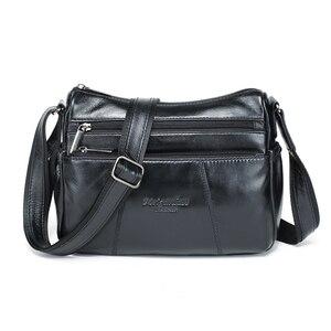 Image 3 - MEIGARDASS prawdziwej skóry Crossbody torby dla kobiet torba na ramię luksusowe torebki kobiet torba materiałowa portfele damskie Messenger torby
