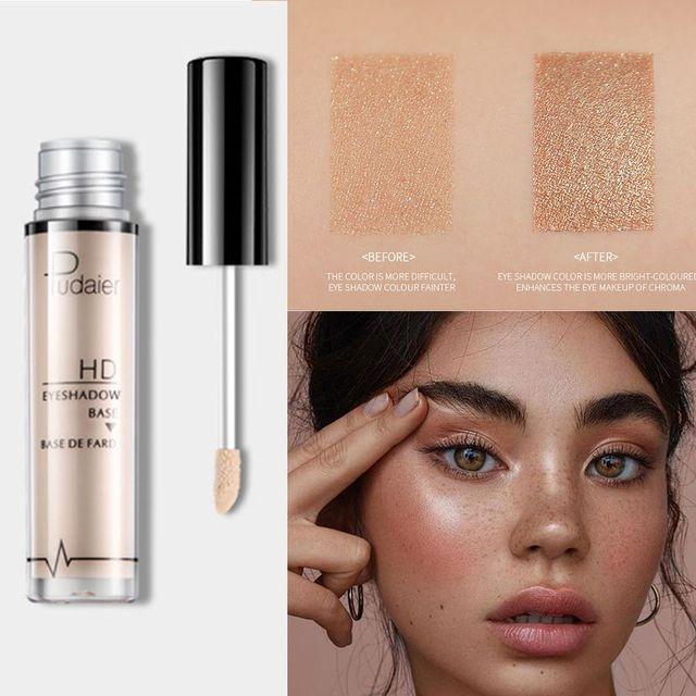 Pudaier Natural Primer Makeup Eyes Base Waterproof Cream  Under Shadow Cosmetic Eyeshadow Base Primer Makeup Moisturzing