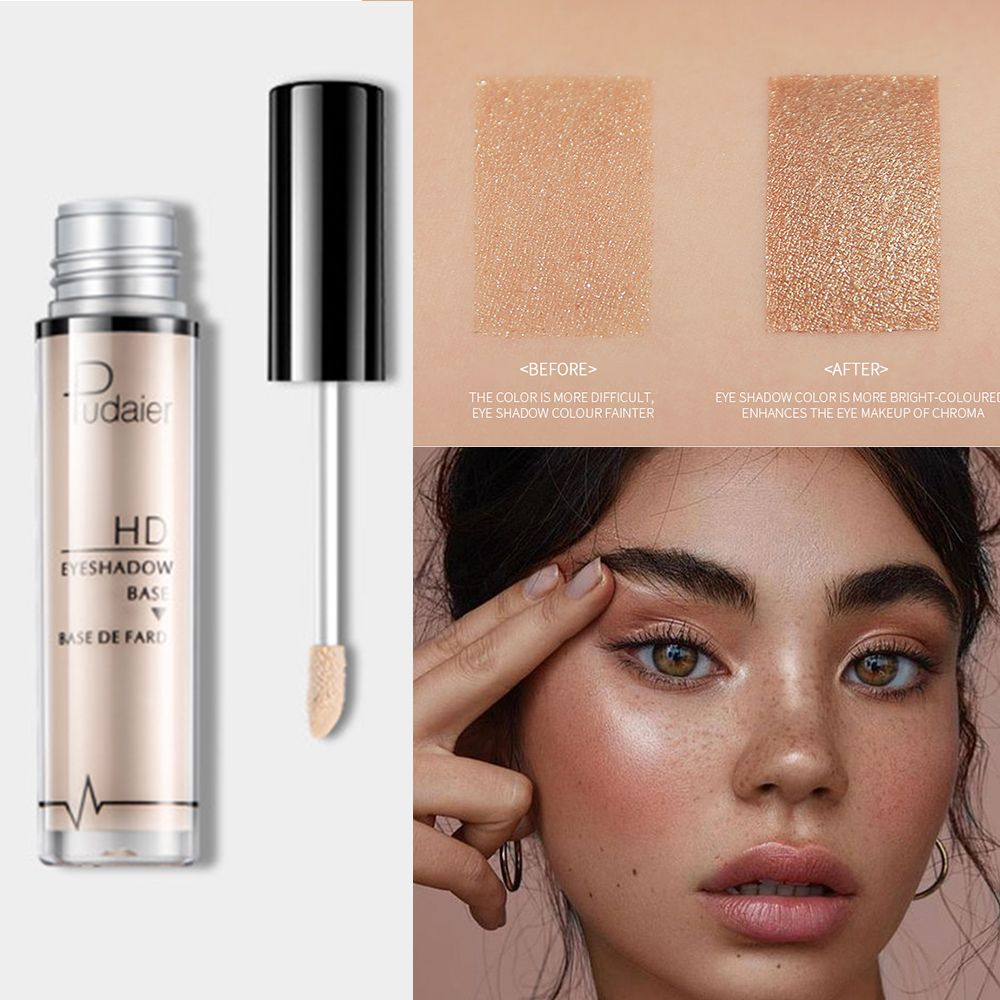 Pudaier Natural Primer Makeup Eyes Base Waterproof Cream Under Shadow Cosmetic Eyeshadow Base Primer Makeup Moisturzing image
