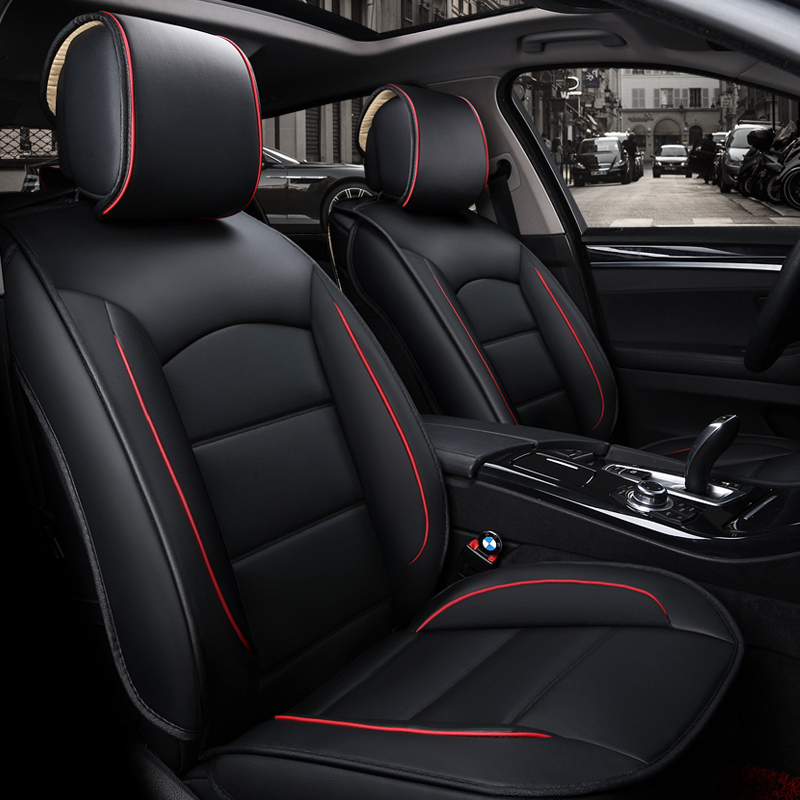 New Luxury PU Leather Auto Universal Car Seat Covers Automotive Seat Covers for Nissan Qashqai Note