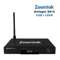 Zoomtak V plus Android 6.0 tv box 2 gb RAM 16 gb ROM KODI 17.0 Octa rdzeń wsparcie Bluetooth 4.0 UHD 4 K Odtwarzacz H.265 Amlogic s912