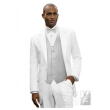 beach tuxedo for wedding groom suit white custom made suit men high quality 2017 fashion classic suits