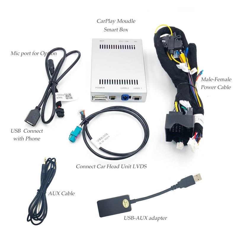 Multimedia smart car Retrofit with Apple Carplay box for Mercedes NTG5 C  Class W205 GLC W253 2015-2017 iOS AirPlay