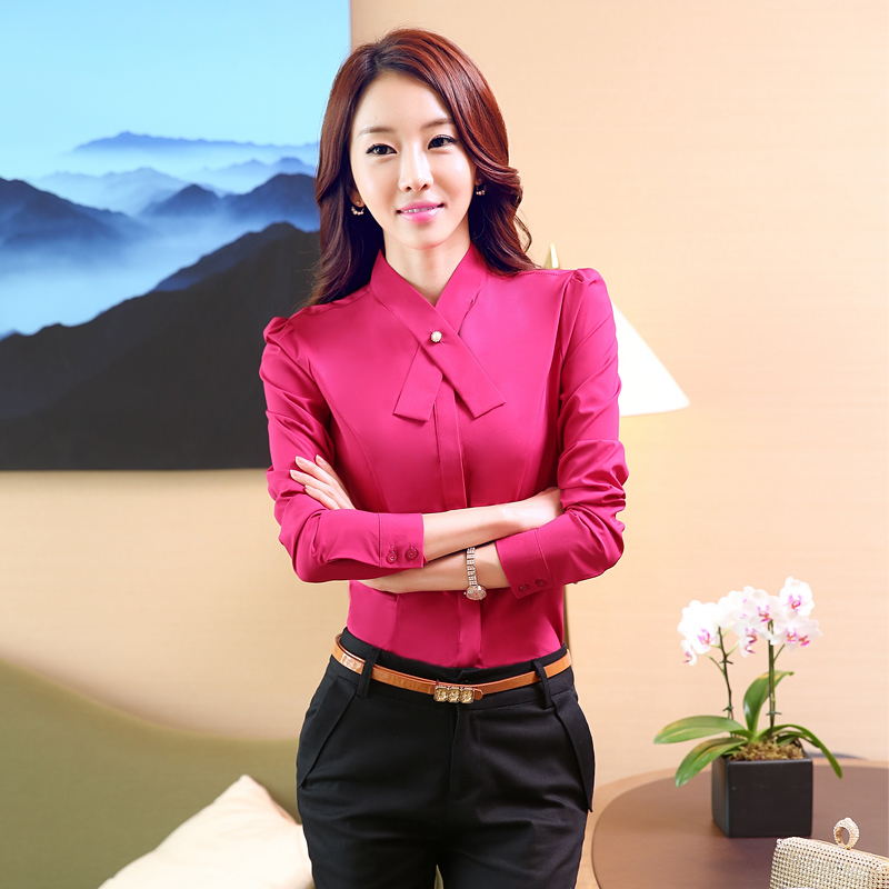 Airlines Stewardess Uniforms Professional Women's Shirt Suit Work Wear Female Long-sleeve Slim Suits Shirt with Trousers